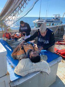 Evacua SEMAR a persona herida de Puerto Peñasco, Sonora