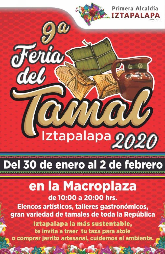 Iztapalapa invita a su novena Feria del Tamal que este año no usará desechables en pro del medio ambiente.
