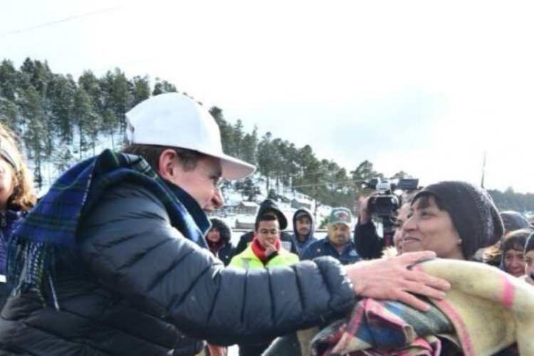 Durango: llevan apoyos a zonas nevadas de Pueblo Nuevo