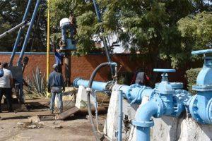 Rehabilitación de pozos en Tultepec.