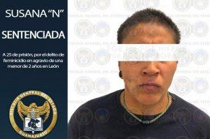 Dan 25 años en prisión a mujer culpable del feminicidio de su propia hija en León