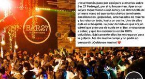 Clausurarán Bar 27 tras golpiza de La Unión Tepito a jóvenes