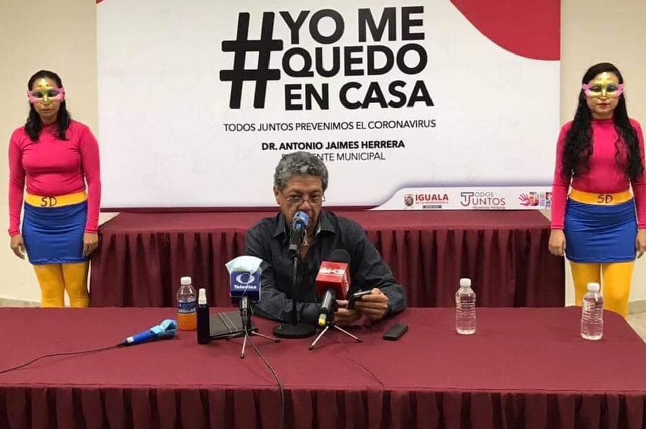Susana Distancia, aliada del alcalde de Iguala