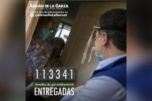 Municipio de Monterrey entrega más de 113 mil botellas de gel antibacterial