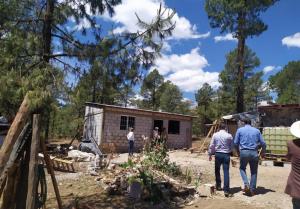 Construyen 120 viviendas en Guachochi para familias indígenas y madres solteras